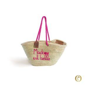 panier sac plage personnalisé Madame est belle ©original-marrakech