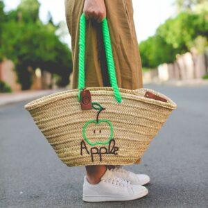 panier sac plage personnalisé Apple ©original-marrakech