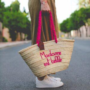 Panier sac personnalisé Madame est belle ©original-marrakech