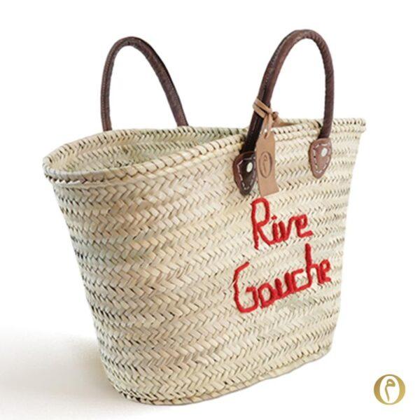 panier marché personnalisé parisienne Rive Gauche paris brode ©original-marrakech
