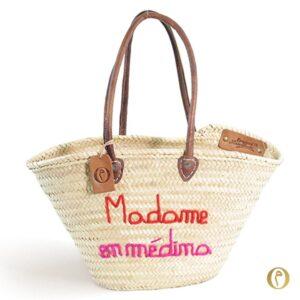 Panier Plage sac personnalisé madame médina maroc ©original-marrakech