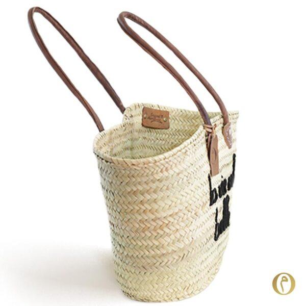 panier sac plage marocain personnalisé La vie est belle ©original-marrakech