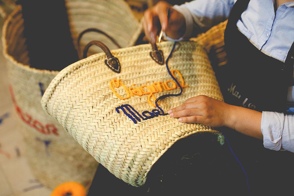 panier atelier à personnaliser ©original-marrakech