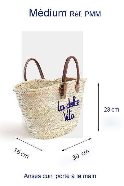 panier la dolce vita sac en paille italie personnalisation brode ©original-marrakech
