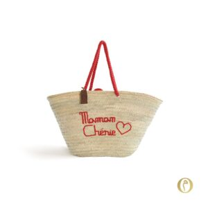 Panier sac personnalisé Maman Chérie ©original-marrakech