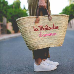 Panier marocain personnalisé maladie d'amour vegan ©original-marrakech