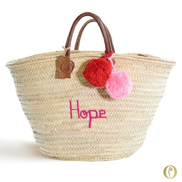 panier marché personnalisé Hope ©original-marrakech