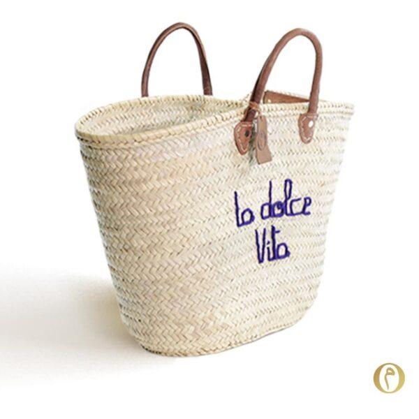 panier marché personnalisé dolce vita ©original-marrakech