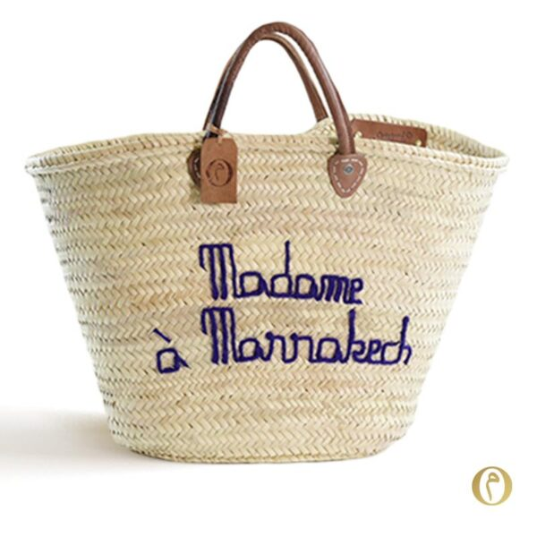 panier marché personnalisé Madame à Marrakech ©original-marrakech