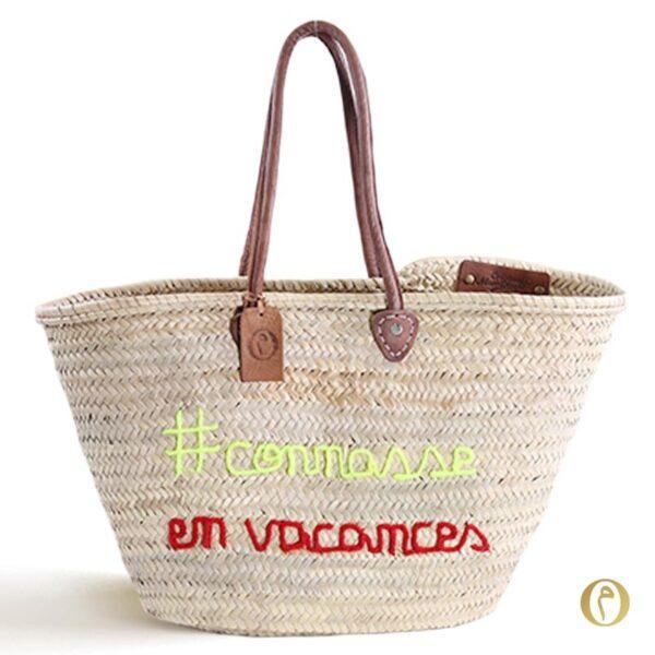 Panier sac marocain connasse en vacances ©original-marrakech