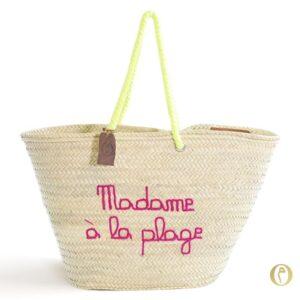 panier paille marocain sac plage personnalisé ©original-marrakech