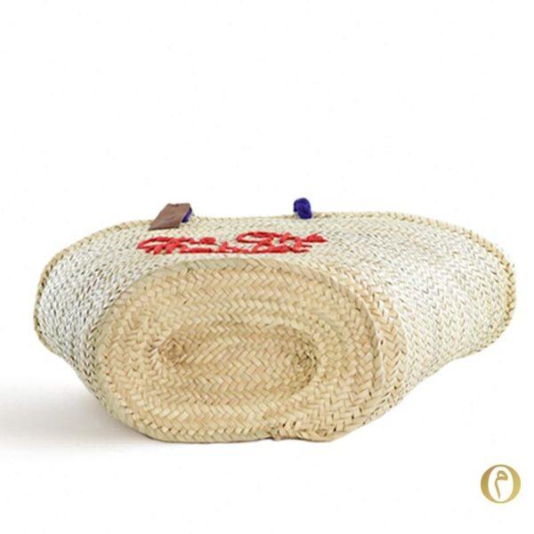 panier plage marocain paille brode sac plage personnalisé ©original-marrakech