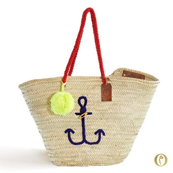 panier sac plage ancre marine bateau mer cadeau bag itbag brode personnalisé ©original-marrakech