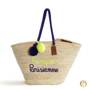 Presque Parisienne panier plage paris maroc cabas it bag personnalisé ©original-marrakech