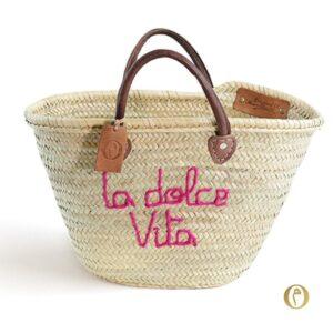panier marché personnalisé brode dolce Vita ©original-marrakech