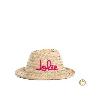 chapeau de paille enfant jolie brode cadeau ©original-marrakech