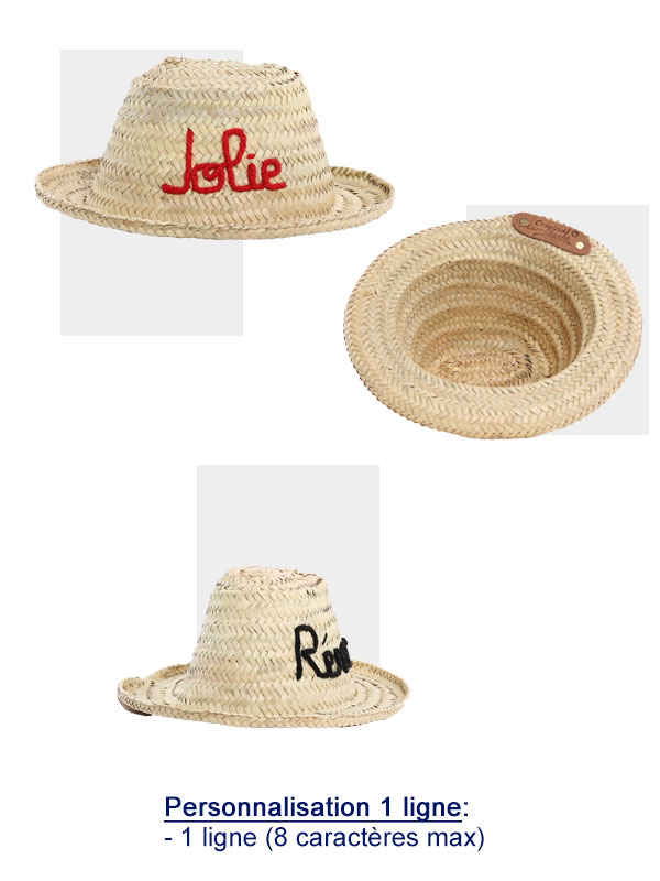 chapeau enfant original marrakech broderie
