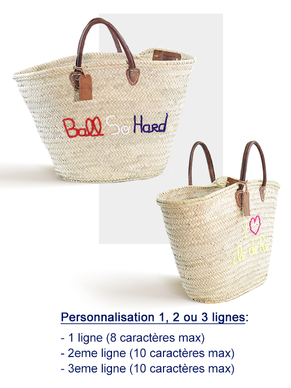 panier marche large broderie