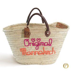 Panier sac marocain personnalisé broderie ©original-marrakech