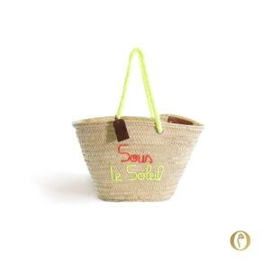 panier sac plage personnalisé Sous le soleil ©original-marrakech