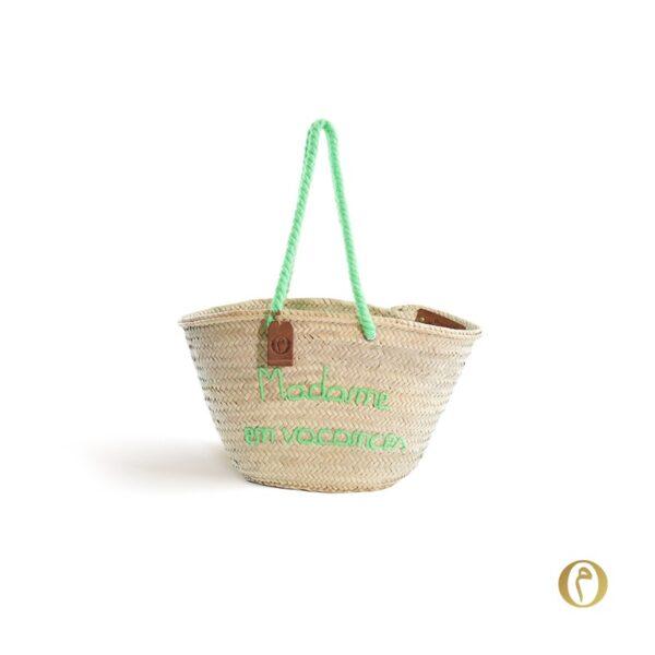 panier sac plage personnalisé Madame en vacances ©original-marrakech