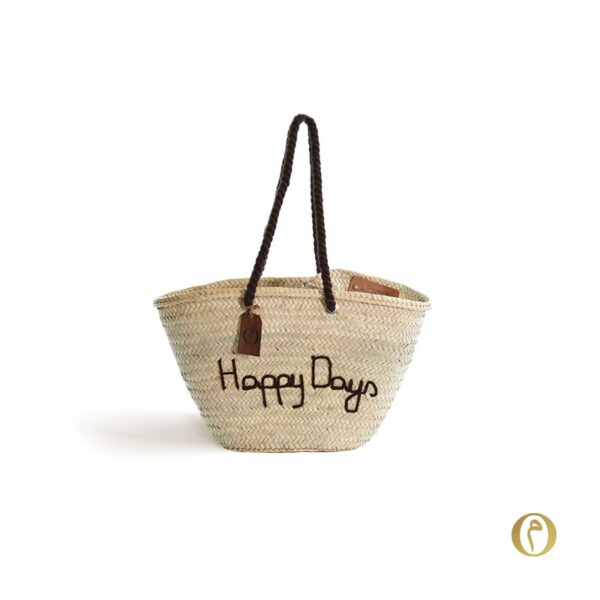Panier sac personnalisé Happy Days ©original-marrakech