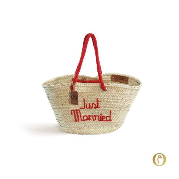 panier marocain personnalisé Just Married ©original-marrakech