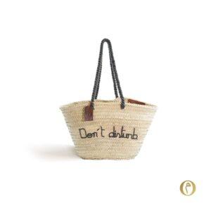Panier sac personnalisé Don't disturb ©original-marrakech