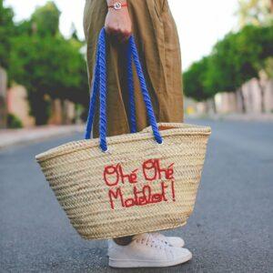 panier marocain personnalisé Ohé ohé Matelot ©original-marrakech