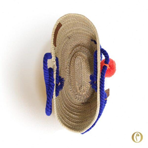 Sac de plage beach bag cabas panier personnalisé pompons tassel ©original-marrakech