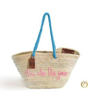 panier sac plage personnalisé Y'a de la joie ©original-marrakech