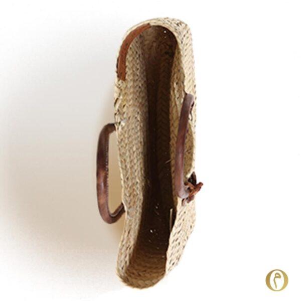 panier rectangle sac marché personnalisé brodé paille ©original-marrakech