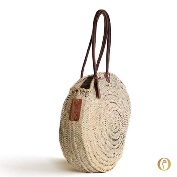 panier rond plage personnalisé sac cabas broderie ©original-marrakech