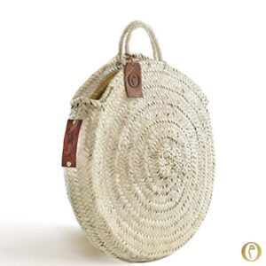 panier rond nature personnalisé sac cabas broderie ©original-marrakech