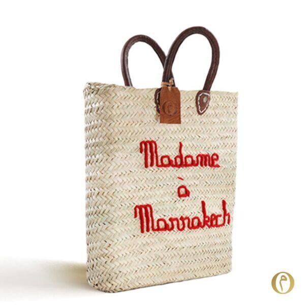 panier marocain brode personnalise sac marché Madame à Marrakech ©original-marrakech