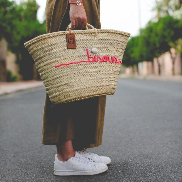 Panier sac personnalisé bisous ©original-marrakech