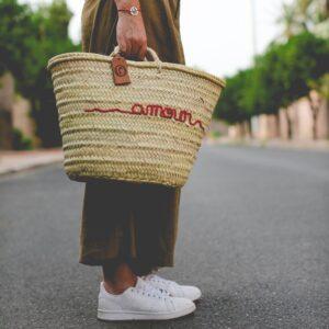 panier sac plage personnalisé amour ©original-marrakech