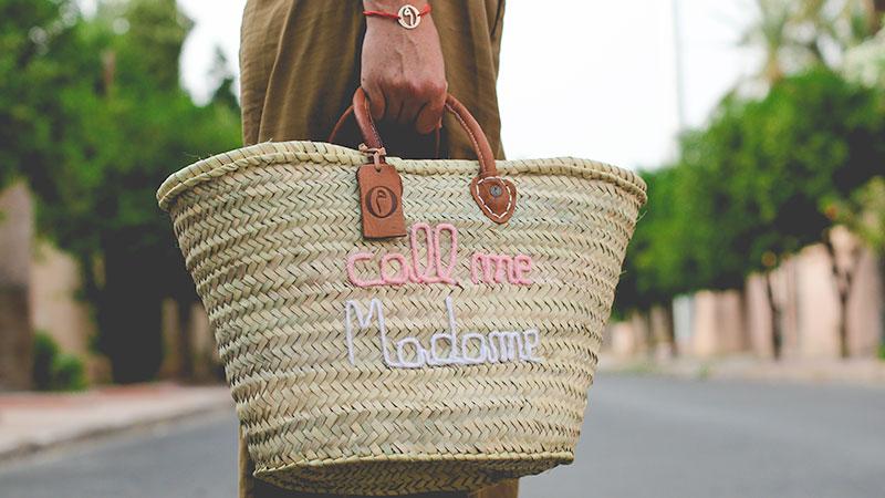 Panier Marché Call Me Madame ©original-marrakech